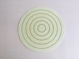 Cirkel - veld (Ø 35 cm - wolvilt)