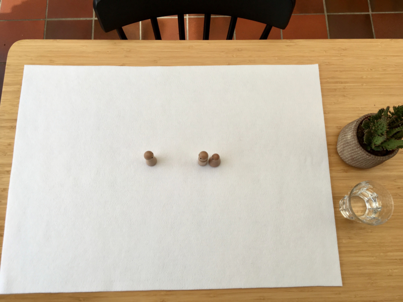 Vilten veld HELDER WIT 50 x 70 cm