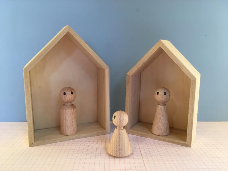 Set van 2 huizen (nestbaar)