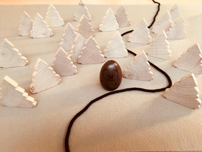 Platte naaldboom