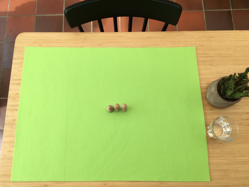 Vilten veld LICHT LENTE-GROEN 50 x 70 cm