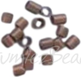 04100 Knijpkraalbuis Koperkleurig (Nikkelvrij) 2mmx1,5mm 2 gram