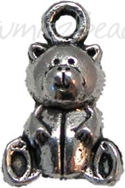 00622 Beer Antiek zilver (Nikkel vrij) 12mmx10mm