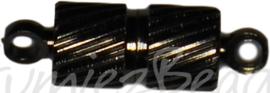 04112 Magneetslot Zwart (Nikkelvrij) 15mmx4mm  1 stuks