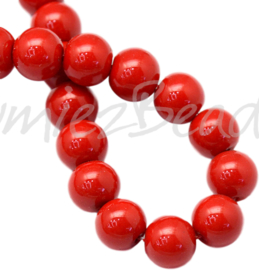 04024 Glasparel Red 3-4mm; gat 0,5mm 1 streng ±30cm