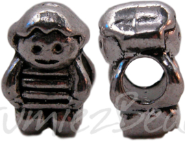 00433 Pandora kraal jongetje Antiek zilver