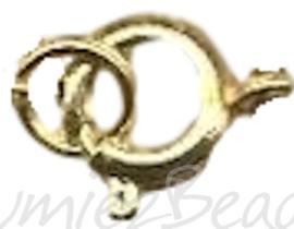 04088 Veerslotje Goudkleurig (Nikkelvrij) 7mm 6 stuks