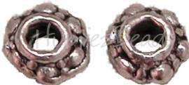 00226 Spacer daisy Antiek zilver (Nikkel vrij) 20 stuks