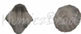00366 Acryl kraal facet Grijs 9mmx7mm 20gram