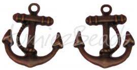 01338 Bedel anker Antiek brons 23mmx20mm