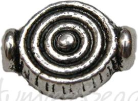00745 Spacer spiraal Antiek zilver 9mmx7mm 11 stuks