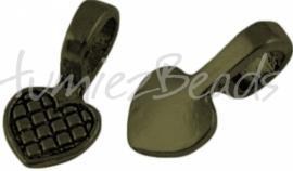02618 Plakoog voor hangers (glue on bail) Antiek brons (Nikkelvrij) 8mmx8mm 5 stuks