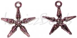 02138 Bedel Ster pin Antiek zilver (Nikkelvrij) 28mmx25mm