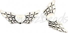01121  Spacer vleugel  Antiek zilver (Nikkelvrij) 1 stuks