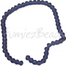 03437 Imitatie swarovski streng (±22cm) Blauw 6mmx4mm 1 streng