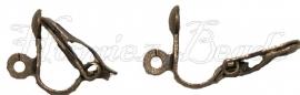 00774 Clip oorbel Brons (Nikkelvrij) 12mm 3 paar