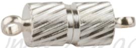 01075 Magneetslot Metaalkleurig (Nikkelvrij) 14mmx4mm 3 stuks