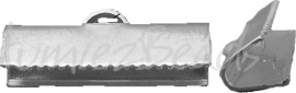 01977 Bandklem Metaalkleurig (Nikkelvrij) 20mmx7mm 6 stuks