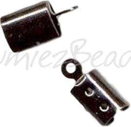 04091 Veterklem Zwart (Nikkelvrij) 10mmx4mm 6 stuks