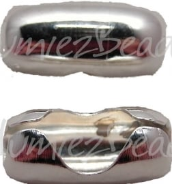 01820 Metaal klemmetje voor 8mm bolketting Zilverkleurig 21mmx10mm 1 stuks