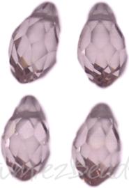 04336 Glaskraal druppel Roze 4 stuks