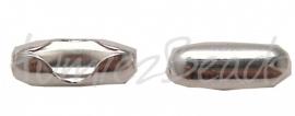 01387 Metaal klemmetje voor 3,5mm bolketting Zilverkleurig 4,5mm 8 stuks