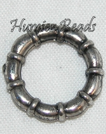 02918 Metallook ring boeiring Antiek zilver (Nickel vrij) 15mm 11 stuks