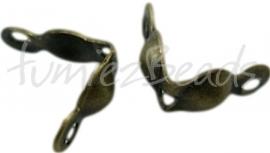 00752 Kalotjes Bronskleurig (Nikkel vrij) 8mm ±40 stuks