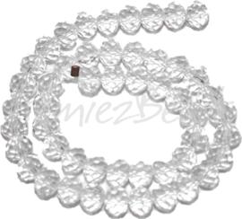 02866 Glaskraal Imitatie Swarovski 5040 briolette Crystal 4mmx6mm 1 streng (±20cm)