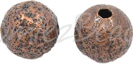 01249 Stardust kraal Koper 6mm 15 stuks