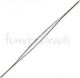 G-0018 Rijgnaald groot oog (Big eye needle) Stainless steel 75mmx0,63mmx0,3mm 1 stuks