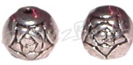 02063 Metalenkraal sterbloemetje Antiek Zilver (Nickel vrij) 6mm 14 stuks