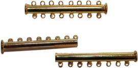 01601 Magneetschuifslot 8-rings Goudkleurig 45mmx10mm 1 stuks