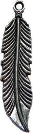 01646 Bedel veer Antiek zilver (Nikkelvrij) 45mmx11mm