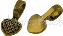 00556 Plakoog voor hangers (glue on bail) Antiek goud (nikkel vrij)  5 stuks