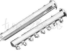 01358 Magneetschuifslot 8-rings Zilverkleurig 45mmx10mmx7mm 1 stuks