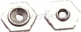 01625 Spacer revet 6 kantig Antiek zilver (Nikkelvrij) 2mmx8mm 20 stuks