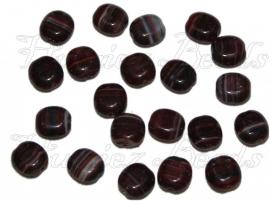 02810 Tsjechische glaskraal Mix color Bruin 10mmx9mmx5mm 20 stuks