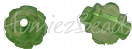 01011 Acryl kraal Lampion Groen 12mmx10mm 15 stuks