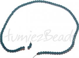 03476 Glaskraal streng ±40cm Jelly Blauw-groen 4mm 1 streng