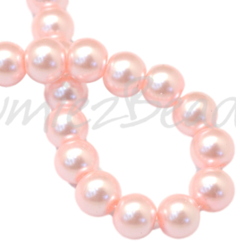 04042 Glasparel Pink 3-4mm; gat 0,5mm 1 streng ±30cm