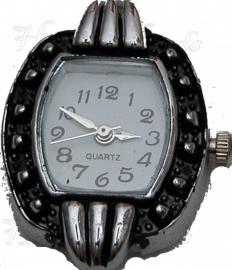 01975 Horloge Antiek zilver 28mmx23mm