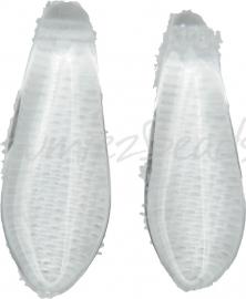 00768 Tsjechische glaskraal Transparant 15mmx5mm-2mm; gat 1mm van links naar rechts 8 stuks