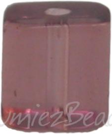00354 Glasperle viereck Leichten bordeaux 4mm 1 strang (±30cm)