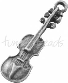 03773 Bedel viool Antiek zilver (Nickel vrij) 37mmx12mm