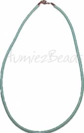 Silk-0002 Seidenkordel Halskette Hellblau 1 stück