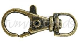 03239 Sleutelhanger Antiek brons 35mmx13mm