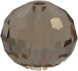 01657 Glaskraal Imitatie Swarovski 5000 round Topaz 10mm 4 stuks