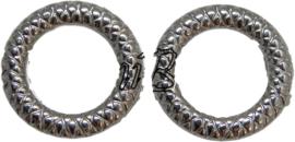 01911 Metallook ring Antiek zilver 20mmx3mm 11 stuks