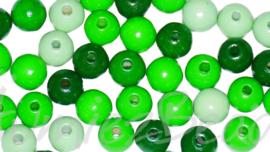 04320 Houten kraal gelakt Mix color 6mm ±150 stuks